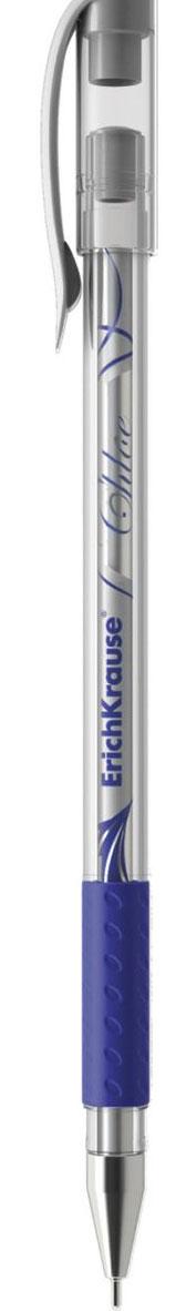 Erich Krause Ручка гелевая Chloe синяя 3897438974Тонкая гелевая ручка с прозрачным корпусом и фольгированным стержнем. Цвет резиновой вставки соответствует цвету чернил. Пишущий узел 0. 5 мм. Толщина линии 0. 4±0. 02 мм. Сменный стержень. Рекомендуется использовать стержни Erich Krause: арт. 39007, 39008, 39009, 39010