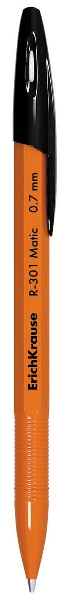 Erich Krause Ручка шариковая автоматическая R-301 Matic Orange 0.7 Stick черная 38513