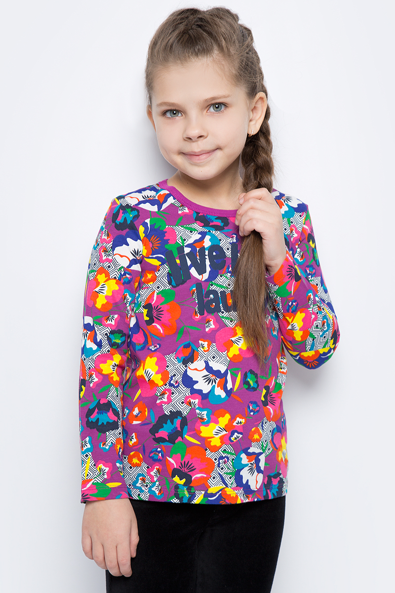 Лонгслив для девочки United Colors of Benetton, цвет: фиолетовый, мультиколор. 3DY0C12VD_65V. Размер 90 godox cp 80 external flash battery pack for nikon sb800 sb900 speedlite flash power fast charger pack
