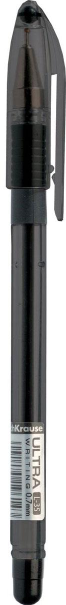 Erich Krause Ручка шариковая Ultra L-35 черная 3573735737Прозрачный тонированный пластиковый корпус позволяет контролировать уровень расхода чернил. Цвет чернил -черный. Мягкий резиновый грип препятствует скольжению пальцев при письме. Пишущий узел 0. 6 мм обеспечивает тонкое и четкое письмо. Сменный стержень. Рекомендуется использовать стержень Erich Krause ULTRA.