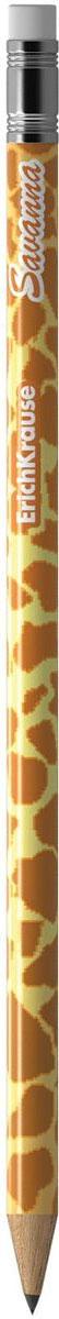 Erich Krause Карандаш чернографитный Savanna с ластиком 3286332863Чернографитный карандаш круглого сечения с ластиком из отборной древесины, твердость НВ. Специальная пропитка древесины и сплошная проклейка грифеля обеспечивает высокую ударопрочность. Мягкая древесина и идеальная центровка грифеля гарантируют легкую заточку с экономным расходом карандаша. Грифель диаметром 2,2мм не царапает бумагу и не крошится.Ластик карандаша средней жесткости изготовлен из экологически чистого и гипоаллергенного материала термопластичной резины (TPR). Не содержит ПВХ.