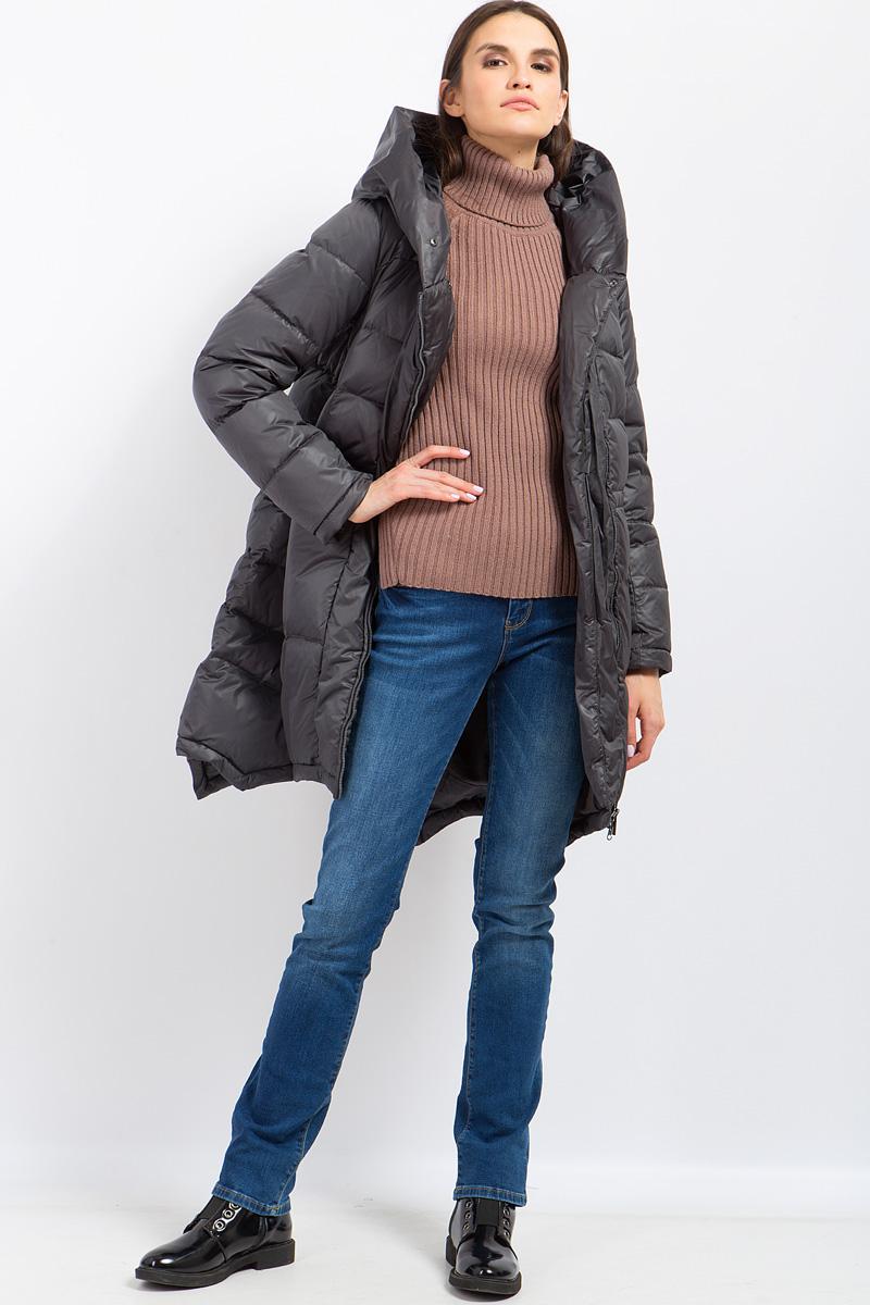 Пальто женское Finn Flare, цвет: темно-серый. W17-32006_202. Размер XXL (52)