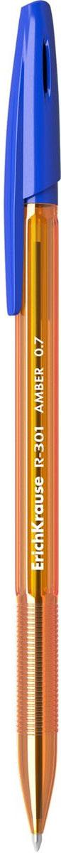 Erich Krause Ручка шариковая R-301 Amber 0.7 Stick синяя31058Удобная шариковая ручка Erich Krause эконом-класса с тонированным прозрачным корпусом для контроля уровня чернил. Цвет вентилируемого колпачка и клипа соответствует цвету чернил. Цвет чернил - синий. Пишущий узел 1.0 мм обеспечивает четкое письмо. Сменный стержень. Рекомендуется использовать стержень Erich Krause R-301.