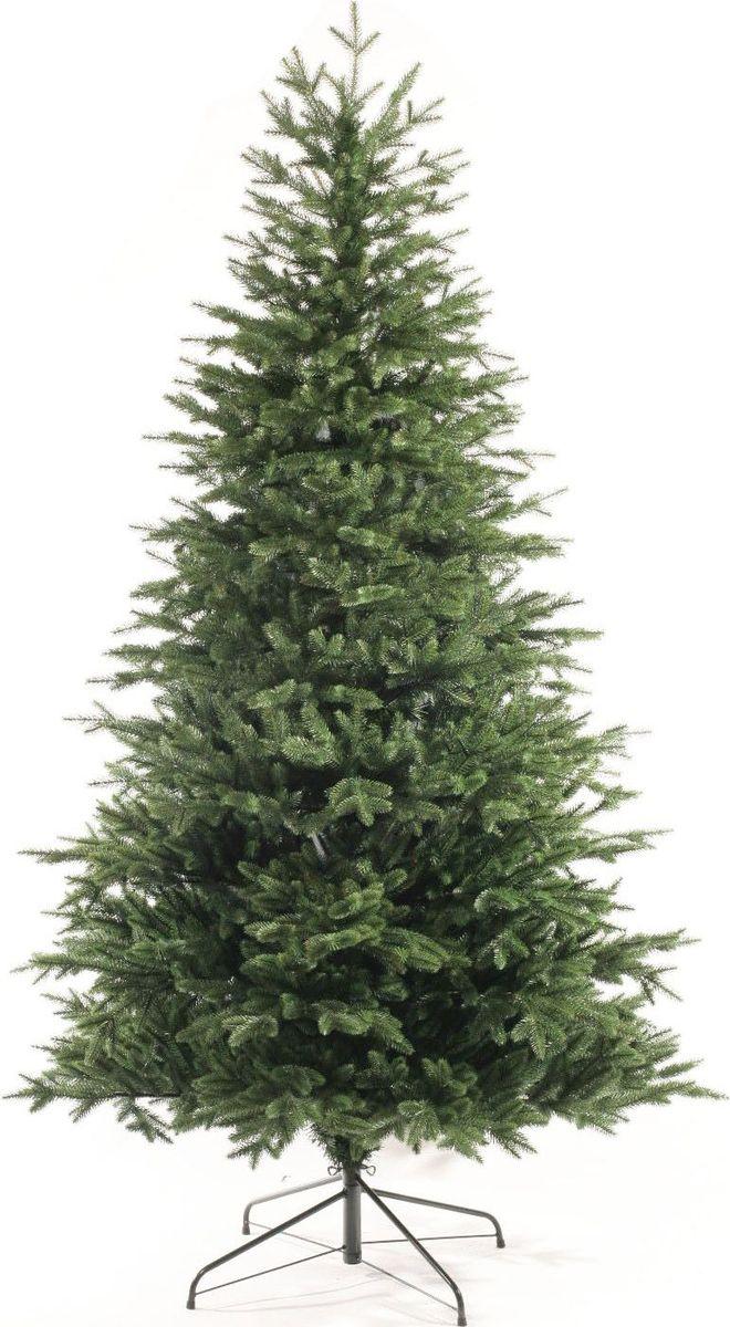 Ель искусственная Царь Елка Валенсия, цвет: зеленый, 2,1 м2912Новогодняя искусственная ель Валенсия украсит новогодний интерьер вашего дома. Благодаря естественномуцвету хвои и форме лап ее легко перепутать с настоящей елью, но, если присмотреться, отличия становятся заметны: это ровная, свежаяокраска, симметричная крона, равномерно покрывающая ветки хвоя. Металлическая подставка надежно удерживает елку в вертикальном положении. Выполненная из резины и ПВХ ель проживет намного дольше, чем срубленная елка, ее иглы не поредеют и не выцветут.
