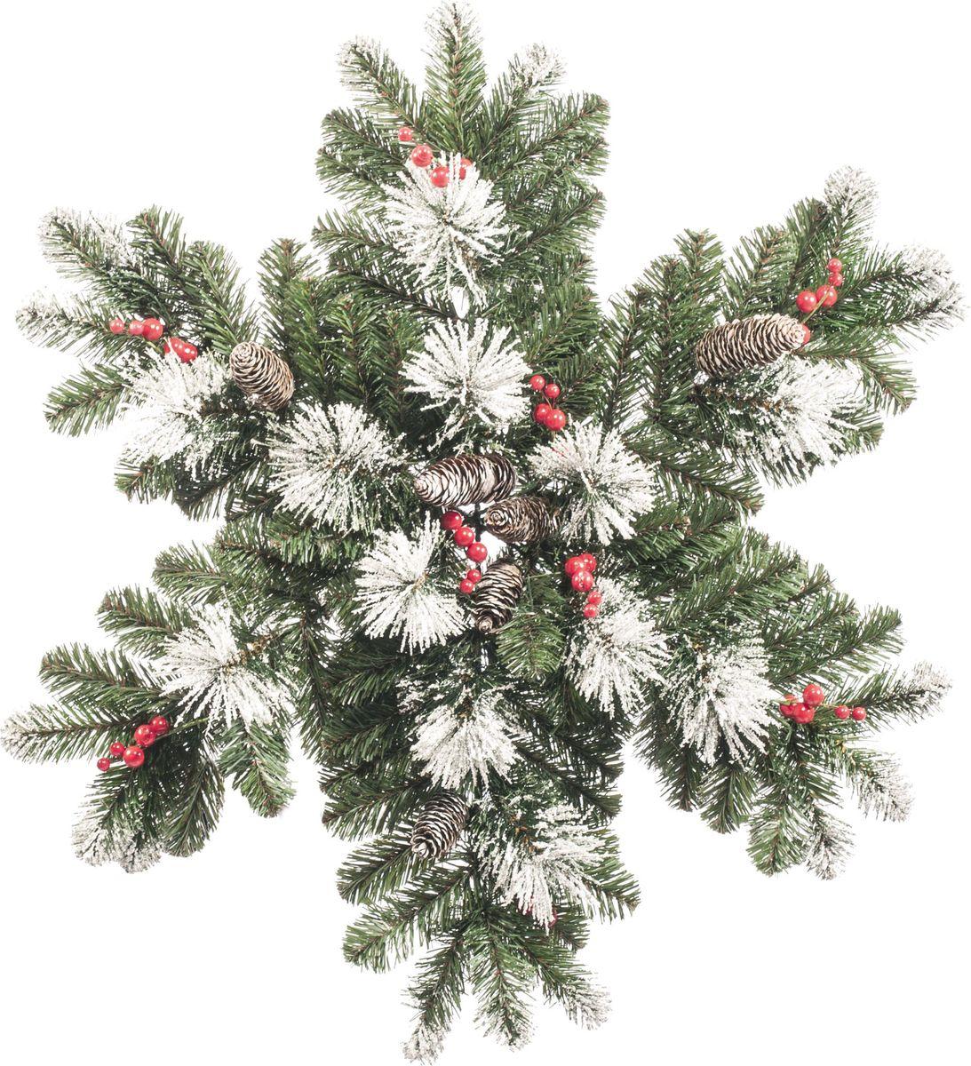 Украшение Царь Елка Снежинка, цвет: зеленый, 70 смСНФЗ - 70