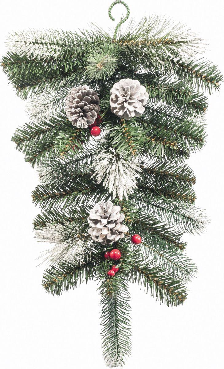 Украшение Царь Елка Капля, цвет: зеленый, 40 смКЛФЗ - 40