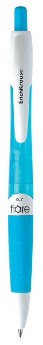 Erich Krause Ручка шариковая Fiore синяя цвет корпуса голубой17722Автоматическая шариковая ручка. Цвет чернил- синий. Корпус из полупрозрачного пластика. Пишущий узел 0. 7 мм обеспечивает чистое и четкое письмо, а мягкий резиновый грип препятствует скольжению пальцев при письме и позволяет ручке удобнее лежать в руке. Сменный стержень. Рекомендуется использовать стержень ErichKrause.