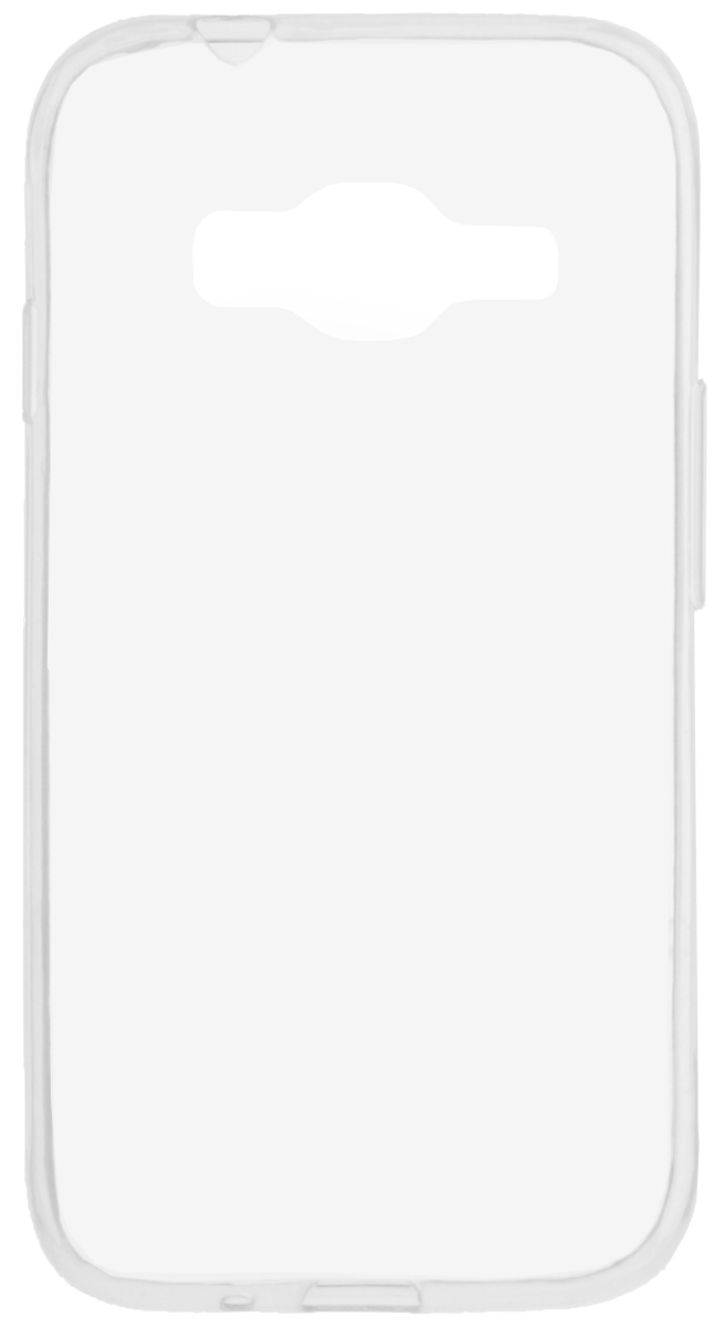 Skinbox 4People Slim Silicone чехол-накладка для Samsung Galaxy J106 J1 mini Prime, Transparent skinbox slim silicone case 4people чехол для moto c plus transparent