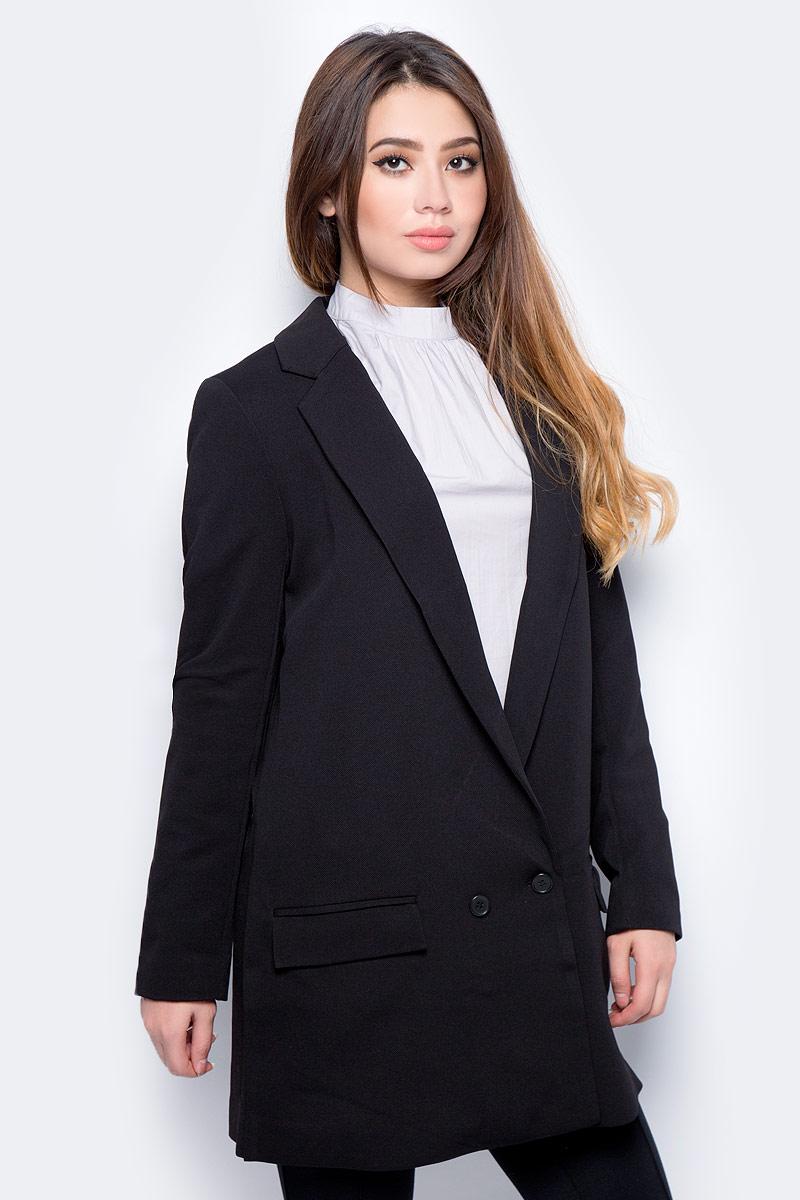 Жакет женский Vero Moda, цвет: черный. 10186352_Black. Размер 42 (48) кардиган женский vero moda цвет черный светло серый 10166453 размер s 42