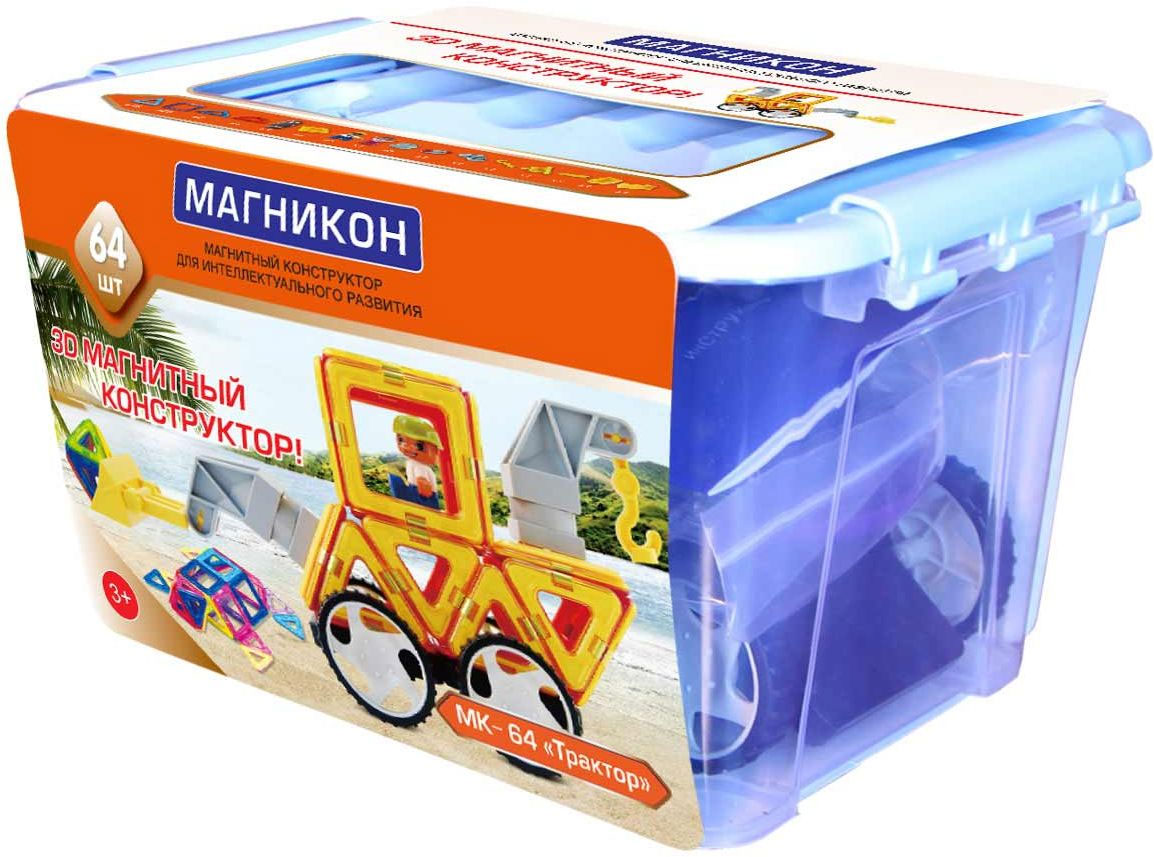 Магникон Магнитный конструктор MK-64 - Конструкторы