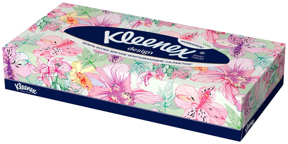 Салфетки универсальные Kleenex Design, двухслойные, 70 шт26083177Серия салфеток Клинекс «Дизайн» объединяет коробки 3-х дизайнов, которые не только поднимают настроение, но и идеально вписываются в интерьер каждой комнаты.