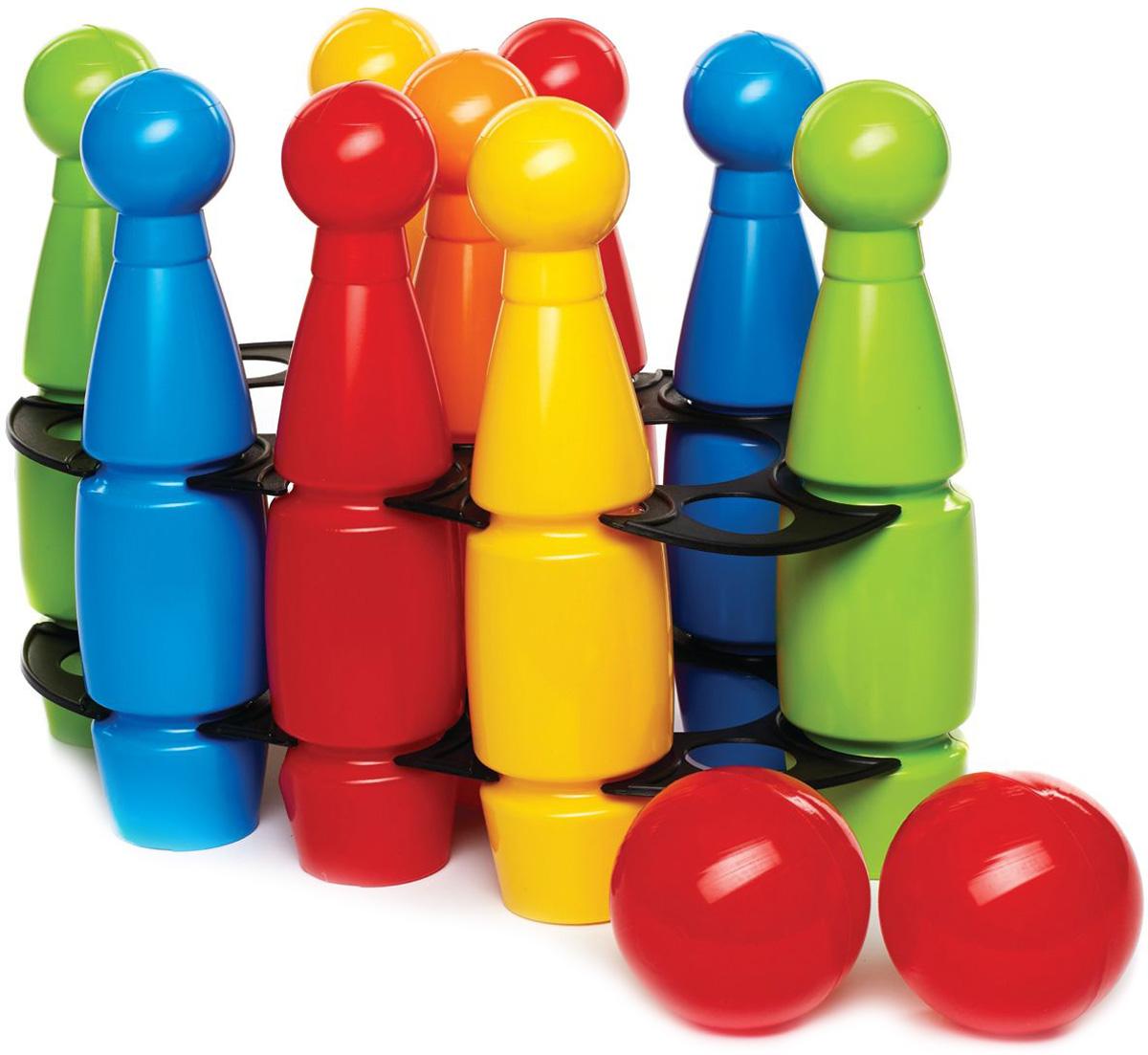 Zebratoys Кегли средние с шарами 11 предметов