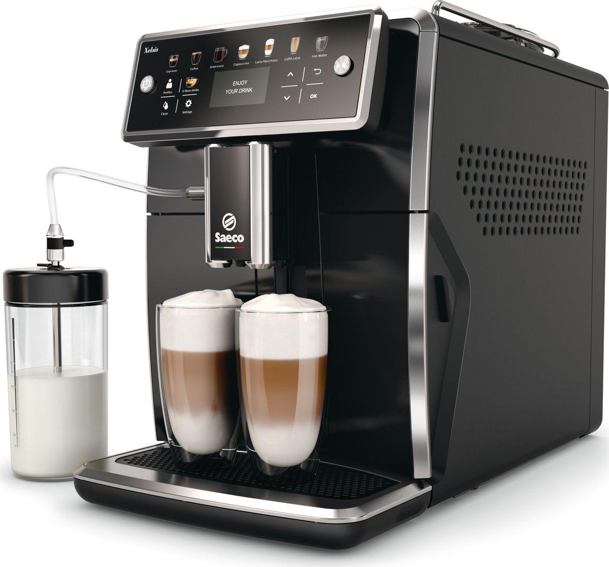 Saeco Xelsis SM7580/00 кофемашина hansa fccb54000 коричневый гриль