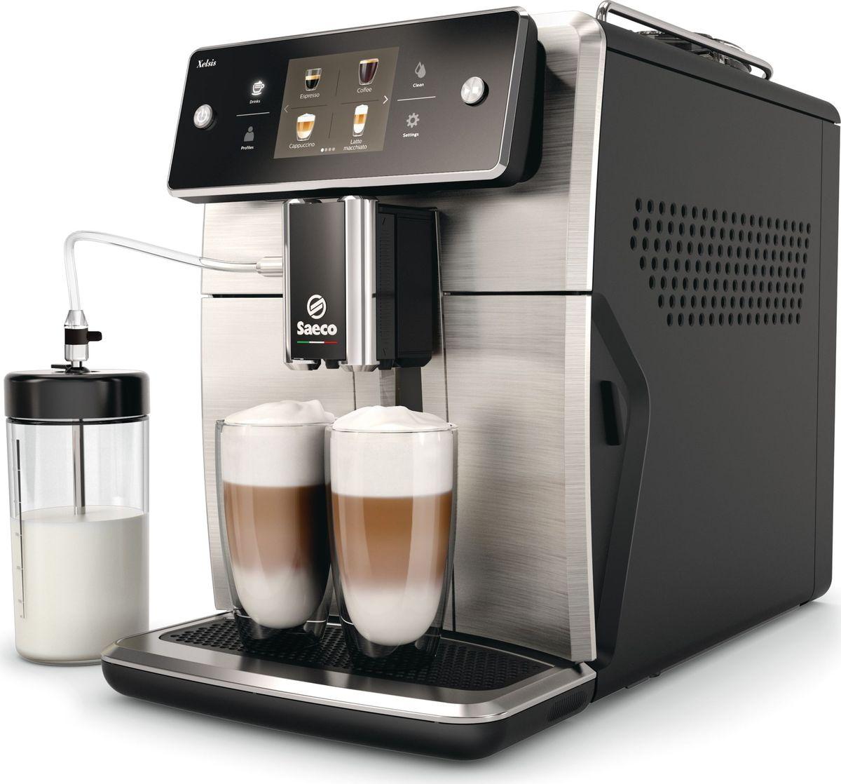 Saeco Xelsis SM7683/00 кофемашина кофемашина jura a9 aluminium 15118 1450вт 15бар автокапуч