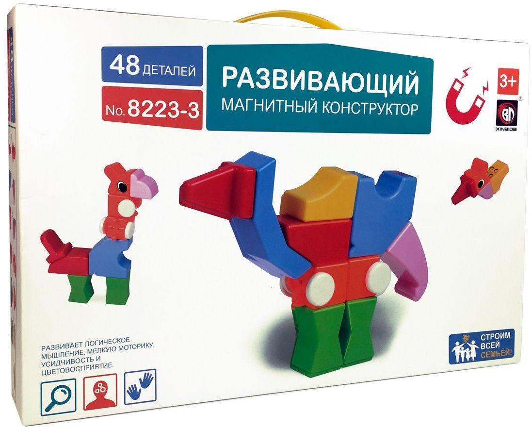Умный Шмель Магнитный конструктор с погремушками 8223-3 умный сад в подробностях