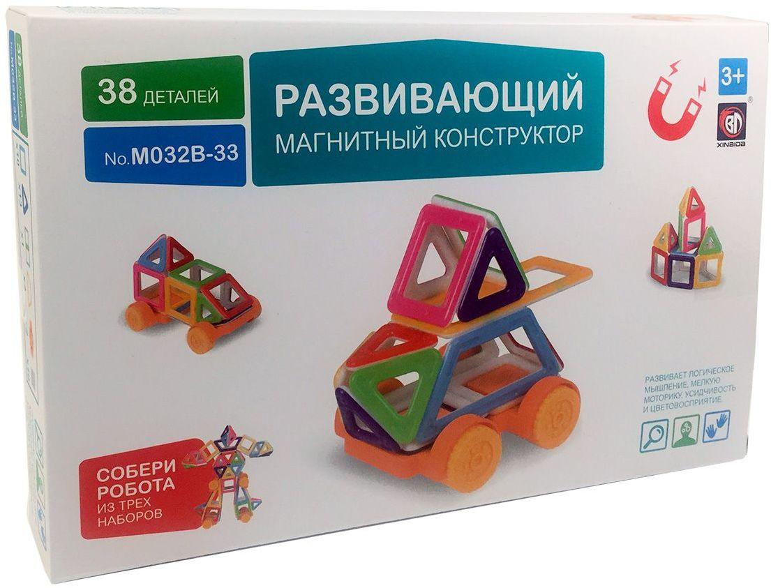 Умный Шмель Магнитный конструктор mini Машинка M032B-33