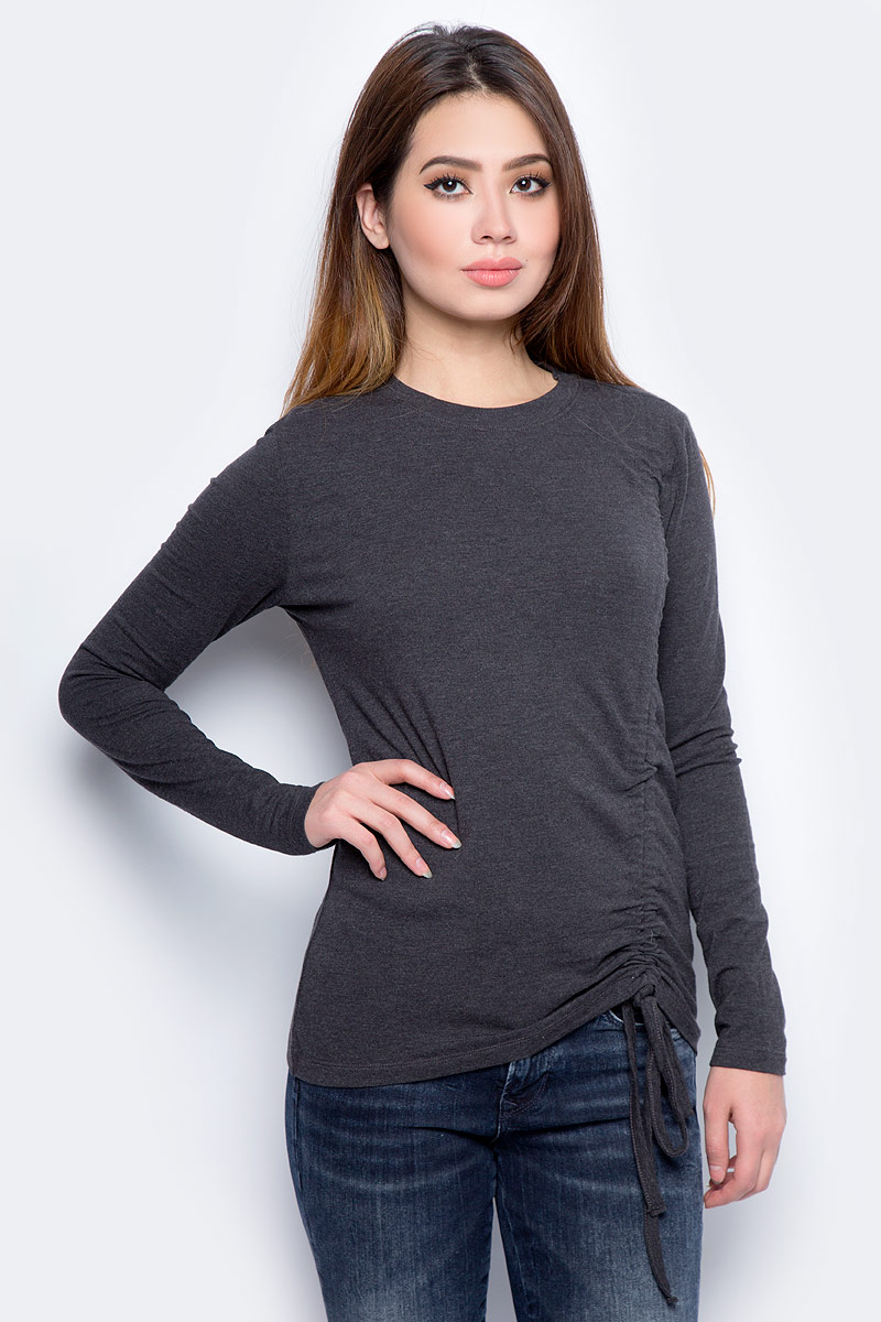 Лонгслив женский Only, цвет: темно-серый. 15151837_Dark Grey Melange. Размер  (42)