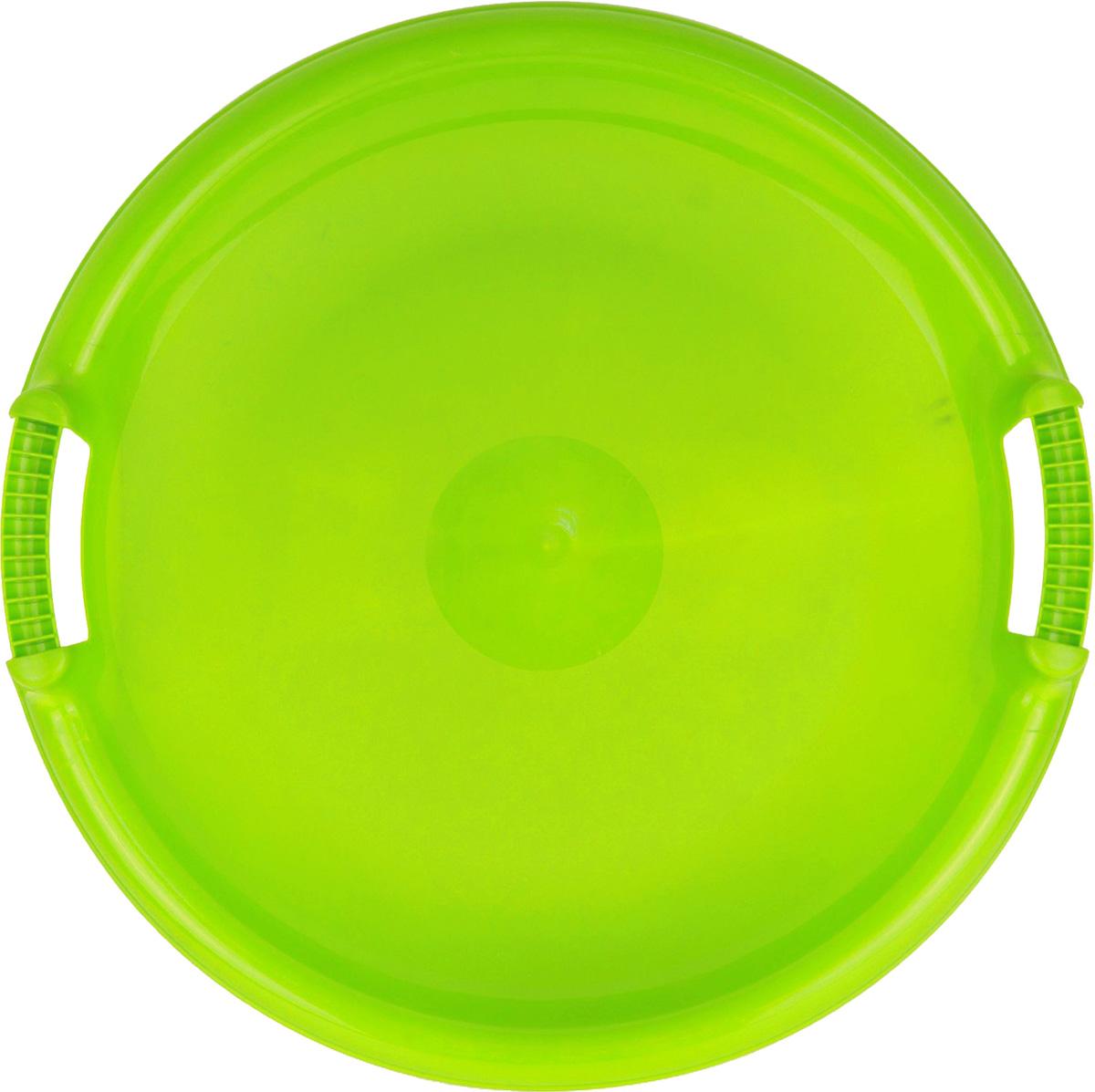 Zebratoys Ледянка большая круглая цвет зеленый15-987_зеленыйЛедянка большая круглая имеет удобный большой размер, который позволяет прокатиться по снежному склону не только детям, но и взрослым. Диаметр круга: 53 см. Ледянка обладает удобными крепкими ручками с двух сторон. Крепкий пластик обеспечит ровное быстрое скольжение и убережет от возможных травм. Выполнена из морозостойкого пластика в ярких цветах, которые отлично будут смотреться на снежных склонах.
