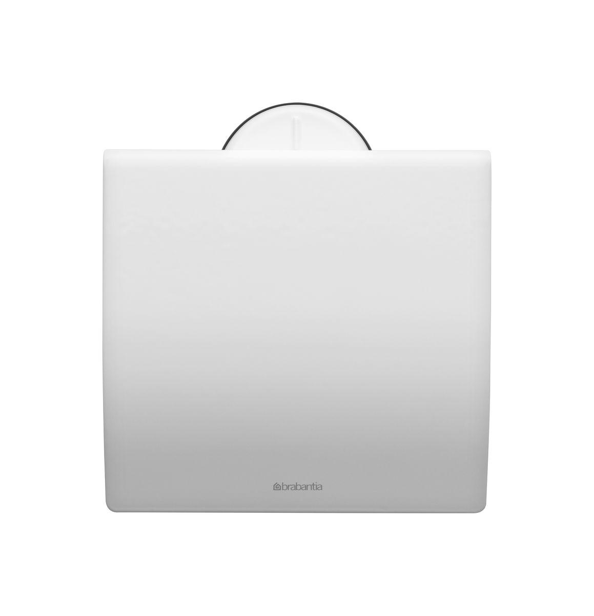 Держатель для туалетной бумаги Brabantia Profile, цвет: белый. 483387483387Устойчивость к коррозии – идеальное решение для ванной или туалетной комнаты. Держатель для рулона может крепиться как с правой, так и с левой стороны. Изготовлен из высококачественной нержавеющей стали с коррозионностойким покрытием или из хромированной стали. Крепежная пластина из пластика. Превосходно сочетается с туалетным ершиком, мусорными баками и другими изделиями Brabantia.