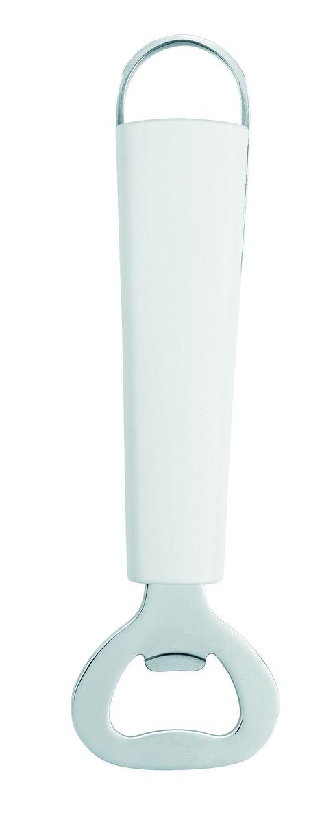 Открывалка для бутылок Brabantia Essential, цвет: белый. 400223400223Откроет любую бутылку!Удобство использования благодаря длинной ручке.Ручка из прочного пластика с петелькой для подвешивания из нержавеющейстали.Подходит для мытья в посудомоечной машине.Имеется сочетающийся по стилю настенный держатель (рейлинг). В комплект невходит.