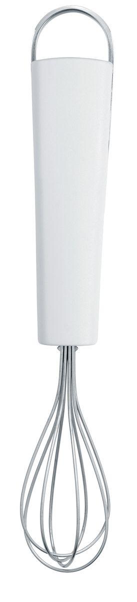 Венчик Brabantia Essential, малый, цвет: белый. 400285400285Венчик имеет небольшой размер и может использоваться для взбивания вчашках и небольших мисках.Венчик изготовлен из упругой нержавеющей стальной проволоки.Ручка из прочного пластика с петелькой для подвешивания из нержавеющейстали.Подходит для мытья в посудомоечной машине.Имеется сочетающийся по стилю настенный держатель (рейлинг).