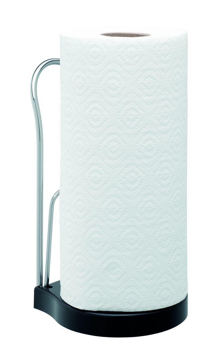 """Держатель может использоваться на влажной поверхности, при этом полотенца  остаются сухими.  Прост и удобен в обращении, подходит для всех стандартных типов кухонных  бумажных полотенец.  Можно перемещать с места на место для удобства использования.  Ограничитель """"Roll-stop"""" предотвращает самопроизвольное разматывание рулона.   Высота основания 20 мм."""