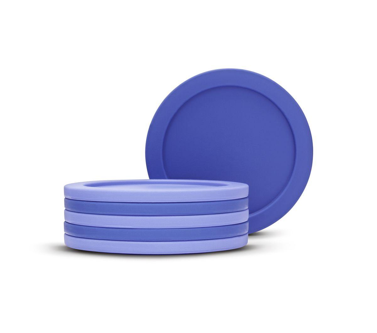 Набор подставок под стаканы Brabantia, цвет: фиолетовый, 6 шт. 621048 подставки под стаканы balvi подставка под стаканы pizza 6шт