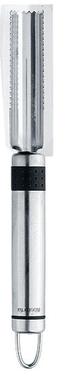 Нож для яблок Brabantia Profile, цвет: стальной матовый. 211027211027Идеально подходит для удаления сердцевины из яблок, груш, ананасов и т.п. Изготовленный из нержавеющей стали нож закругленной формы с зубчиками для вырезания сердцевины из плодов. Благодаря открытой форме сердцевина сама выпадает из ножа. Подходит для мытья в посудомоечной машине. Имеется сочетающийся по стилю настенный держатель (рейлинг). Продается отдельно.