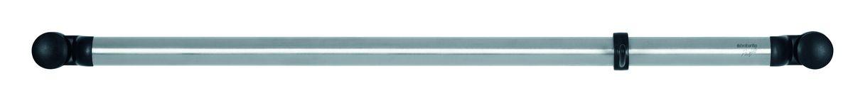 Держатель Brabantia Profile, настенный, цвет: стальной матовый. 2145851855460Держатель легко крепится к стене – в комплект входит крепежная фурнитура иинструкция.Удобная система наращивания по мере увеличения вашей коллекции кухонныхпринадлежностей с помощью соединительных элементов.Труба изготовлена из нержавеющей стали.Держатель поставляется с 12 съемными крючками и соединительным элементом.