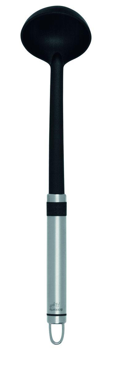 Ложка разливная Brabantia Profile, маленькая, цвет: стальной матовый, черный. 363627