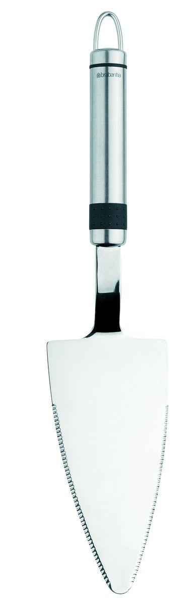 Лопатка для пирожного Brabantia Profile, цвет: стальной матовый. 385421385421Два в одном: одна кухонная принадлежность для нарезки и подачи!Возможность использования левой и правой рукой.Бесшовная конструкция – гигиеничность и удобство очистки.Долговечный и экологически безопасный материал – нержавеющая сталь.Подходит для мытья в посудомоечной машине.Имеется сочетающийся по стилю настенный держатель (рейлинг). Продаетсяотдельно.
