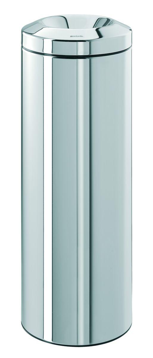 Урна Brabantia, с защитой от возгорания, цвет: стальной полированный, 20 л. 188428188428Безопасно – при случайном возгорании мусора в баке пламягаситель из нержавеющей стали перекрывает доступ кислорода, что приводит к автоматическому тушению пламени. Изделие прошло испытания и получило сертификат RWTUV (Германия). Универсальность – подходит как для домашнего использования, так и для использования в офисе. Удобная очистка – съемное внутреннее металлическое ведро. Практичный дизайн – основная часть мусора эстетично скрыта внутри.