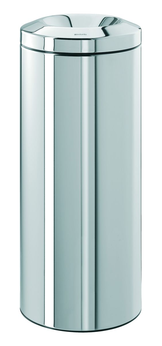 Урна Brabantia, с защитой от возгорания, цвет: стальной полированный, 30 л. 287527287527Безопасно – при случайном возгорании мусора в баке пламягаситель из нержавеющей стали перекрывает доступ кислорода, что приводит к автоматическому тушению пламени. Изделие прошло испытания и получило сертификат RWTUV (Германия). Универсальность – подходит как для домашнего использования, так и для использования в офисе. Удобная очистка – съемное внутреннее металлическое ведро. Практичный дизайн – основная часть мусора эстетично скрыта внутри.