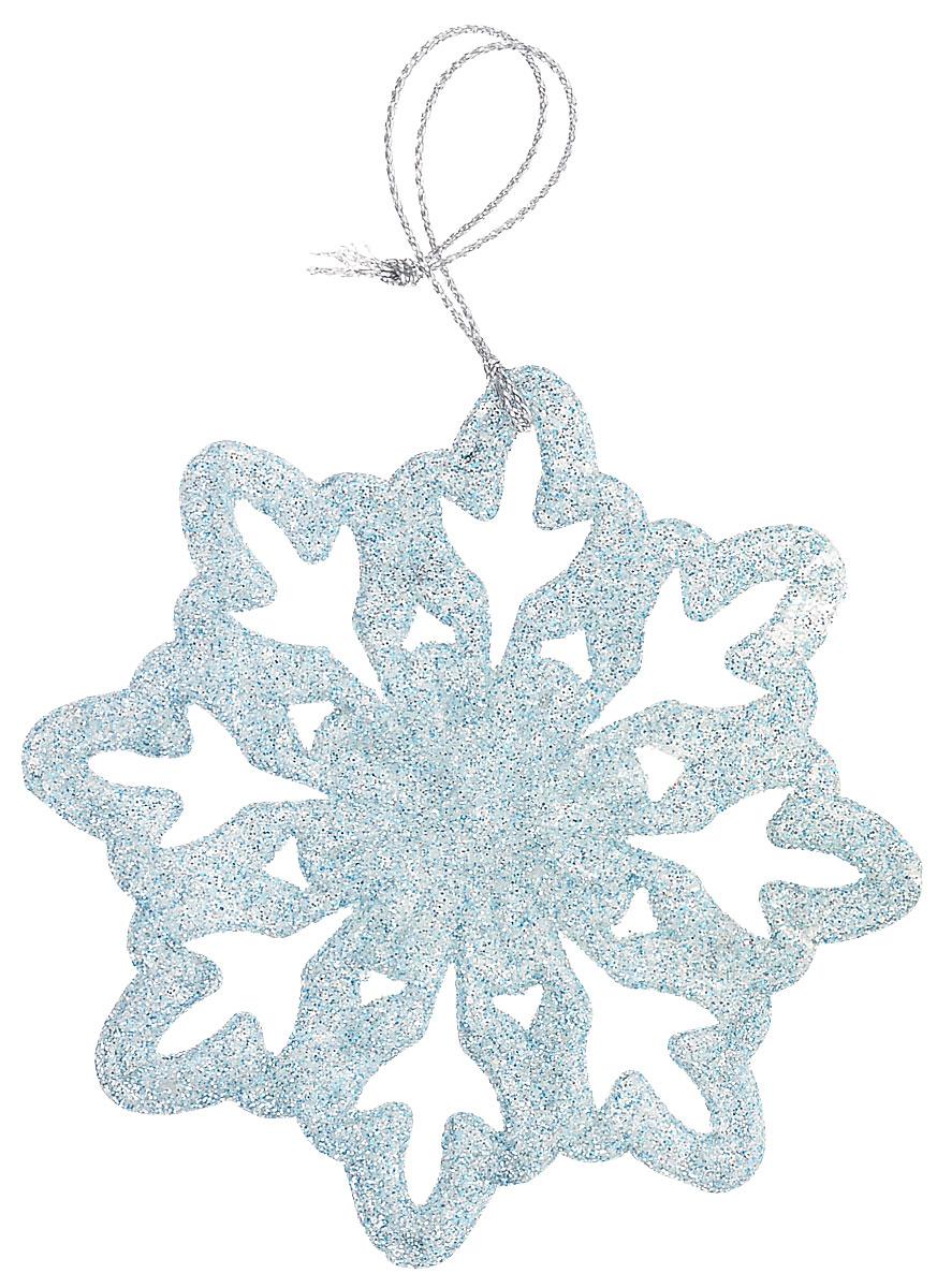 Новогоднее подвесное украшение Magic Time Снежинка-цветочек, цвет: голубой75103Новогоднее украшение Magic Time, выполненное из полипропилена, отлично подойдет для декорации вашего дома и новогодней ели. С помощью специальной петельки украшение можно повесить в любом понравившемся вам месте. Но, конечно, удачнее всего оно будет смотреться на праздничной елке.Елочная игрушка - символ Нового года. Она несет в себе волшебство и красоту праздника. Такое украшение создаст в вашем доме атмосферу праздника, веселья и радости.