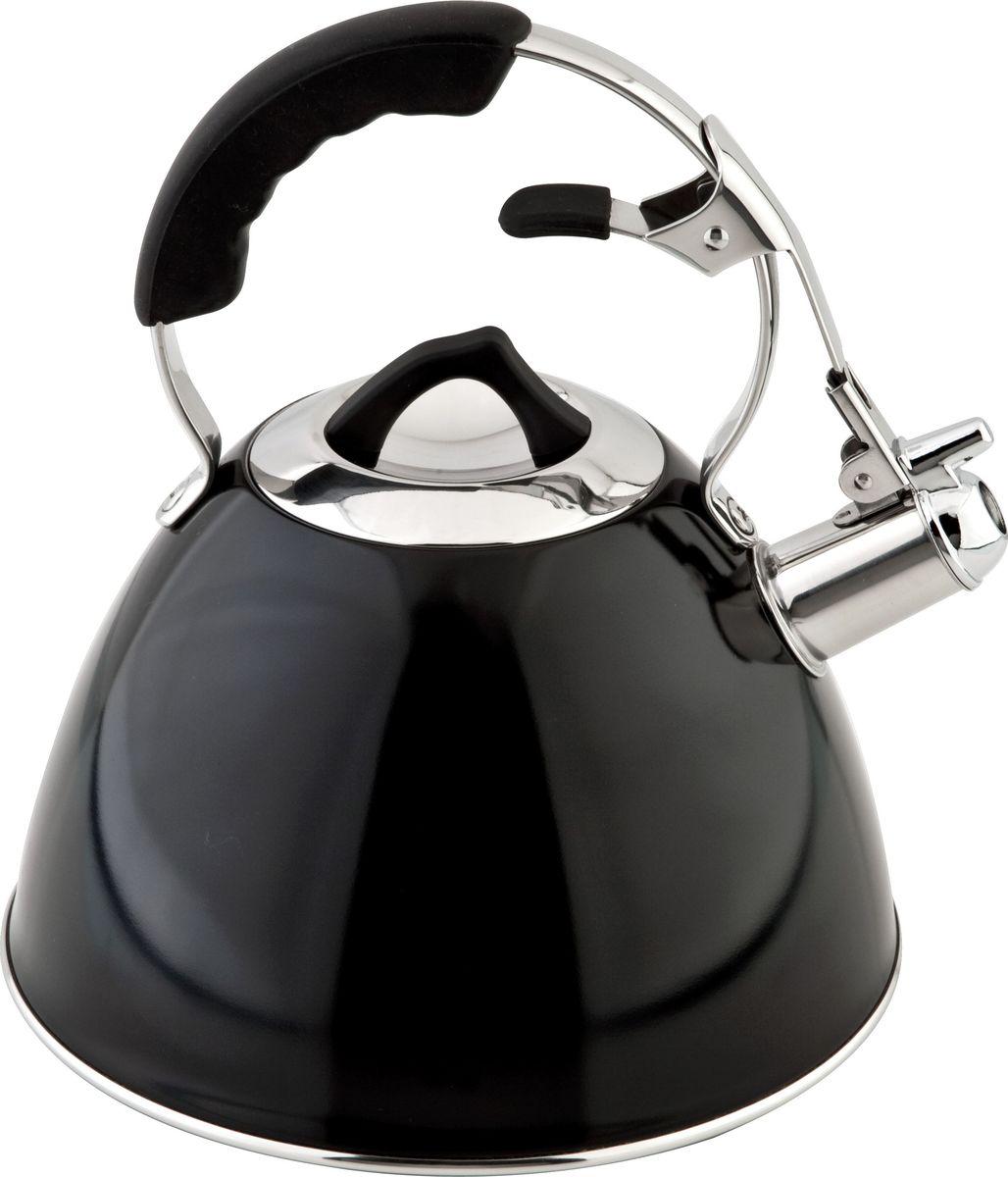 Чайник Carl Schmidt Sohn Aquatic, со свистком, цвет: черный, 3 л058463Чайник Carl Schmidt Sohn Aquatic изготовлен из высококачественной нержавеющей стали.Нержавеющая сталь обладает высокой устойчивостью к коррозии, не вступает в реакцию с холодными и горячими продуктами и полностью сохраняет их вкусовые качества.Носик чайника имеет откидной свисток, звуковой сигнал которого подскажет, когда закипит вода.Подходит для всех типов плит, включая индукционные.