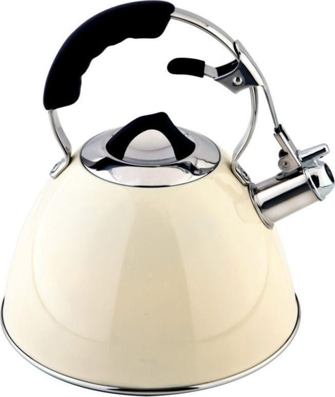 Чайник Carl Schmidt Sohn Aquatic, со свистком, цвет: бежевый, 3 л058487Чайник AQUATIC 3 л со свистком изготовлен из высококачественной нержавеющей стали. Вы сможете использовать чайник на всех типах варочных поверхностей (в том числе индукционных).