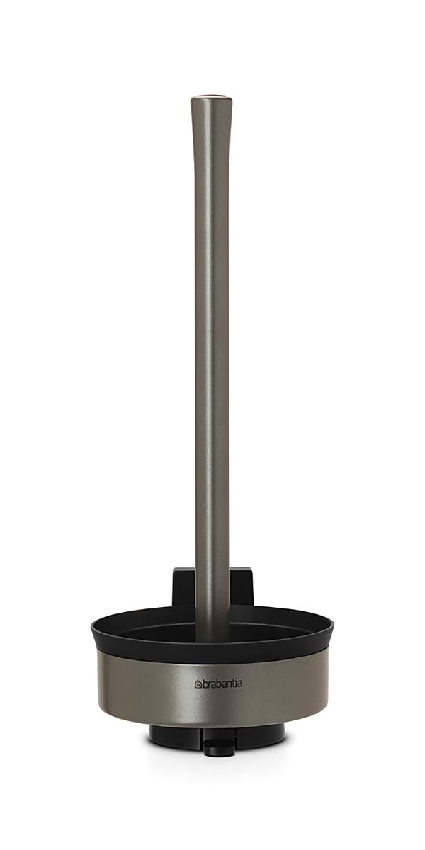 Держатель для туалетной бумаги Brabantia Profile, цвет: платиновый. 483424483424Идеальное решение для хранения туалетной бумаги – рассчитан на 3 рулона. Устойчивость к коррозии – идеальное решение для ванной или туалетной комнаты. Подходит для крепления к стене – экономия места. Кронштейн в комплекте. Можно использовать на полу – нескользящее основание. Легко снимается с настенного кронштейна для тщательной очистки поверхности стены.