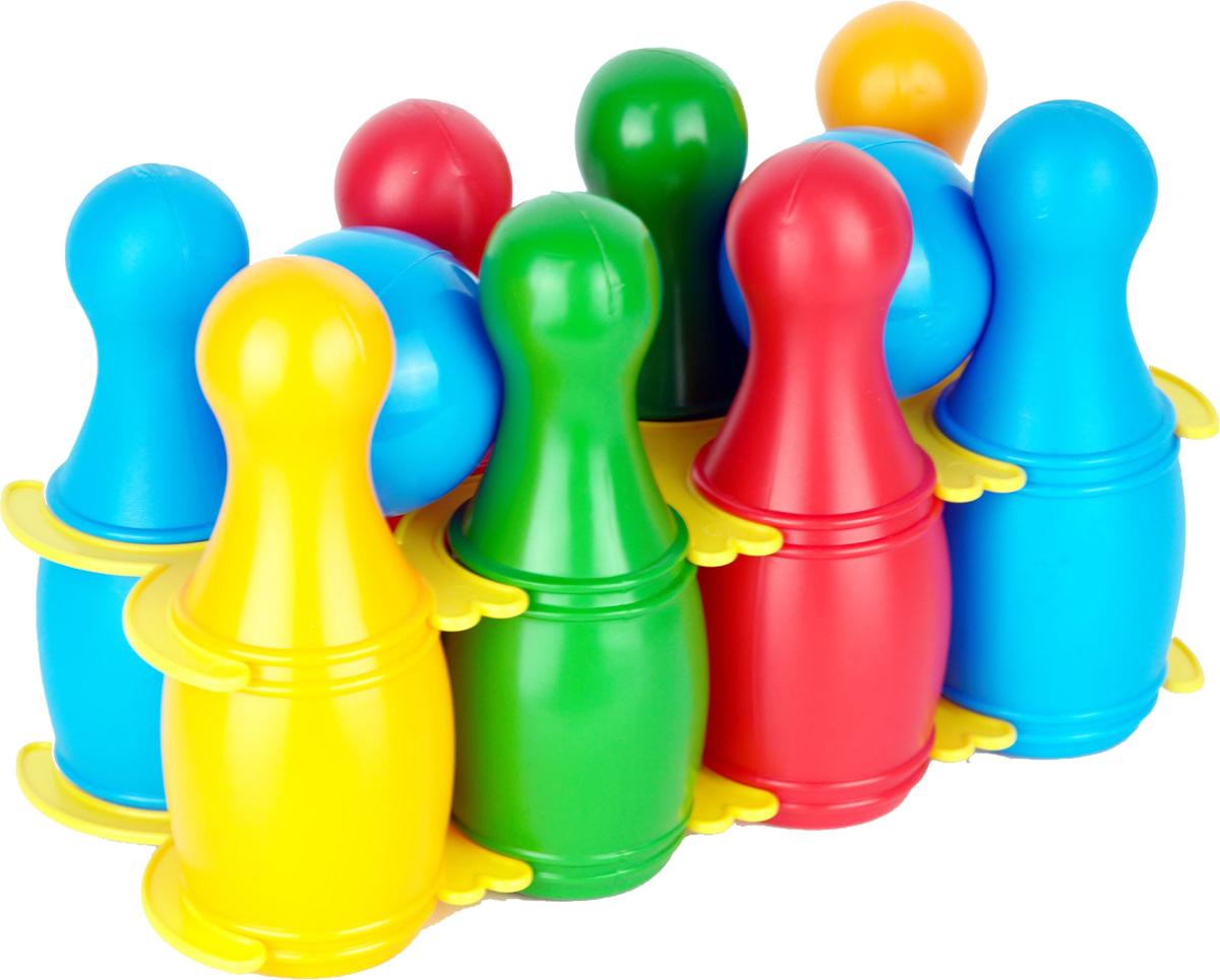 Zebratoys Кегли малые с шарами 10 предметов
