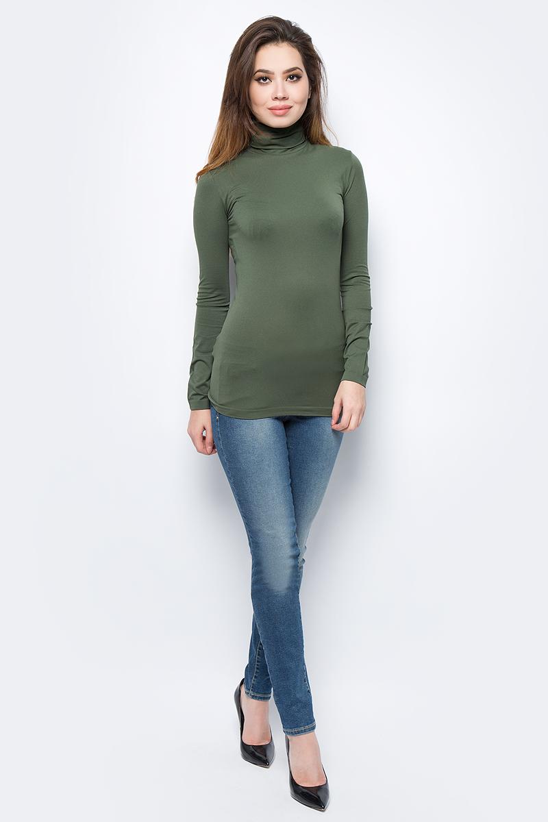Водолазка жен United Colors of Benetton, цвет: хаки. 1X1BD2240_12G. Размер универсальный1X1BD2240_12G