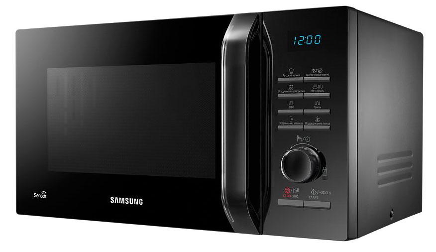 Samsung MG-23H3115QK СВЧ-печь90000001882Микроволновая печь Samsung MG-23H3115QK с элегантным премиальным дизайном украсит любую современную кухню. Прозрачная черная ручка и поворотный переключатель с дизайном Crystal Gloss придает печи элегантный вид. Яркий дисплей синего свечения подсвечивает опции меню и часы, что облегчает выбор настроек и управление режимами печи.В моделях микроволновых печей Samsung с дизайном Crystal Gloss соло и с грилем запрограммированы 20 режимов приготовления различных блюд здорового питания, так что приготовление свежей и здоровой пищи существенно упростилось. Готовьте все, что хотите - от зеленых бобов до коричневого риса, от куриных грудок до филе лосося.Четыре режима: размягчение масла, растапливание масла, черного шоколада, сахара - помогут вам подготовить ингредиенты для различных кулинарных изысков. Если вы новичок к кулинарии, встроенный электронный помощник поможет поднять ваше кулинарное искусство на профессиональный уровень.Режим Поддержание тепла сохраняет оптимальную температуру блюд, не переваривая или пережаривая их, до момента их подачи. В результате они сохраняют свой вкус и текстуру и всегда выглядят как свежеприготовленные.