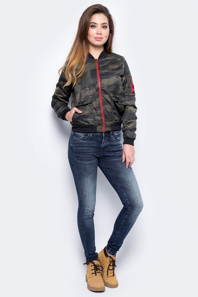 Куртка женская Only, цвет: оливковый. 15136930_Grape Leaf. Размер L (48)15136930_Grape Leaf