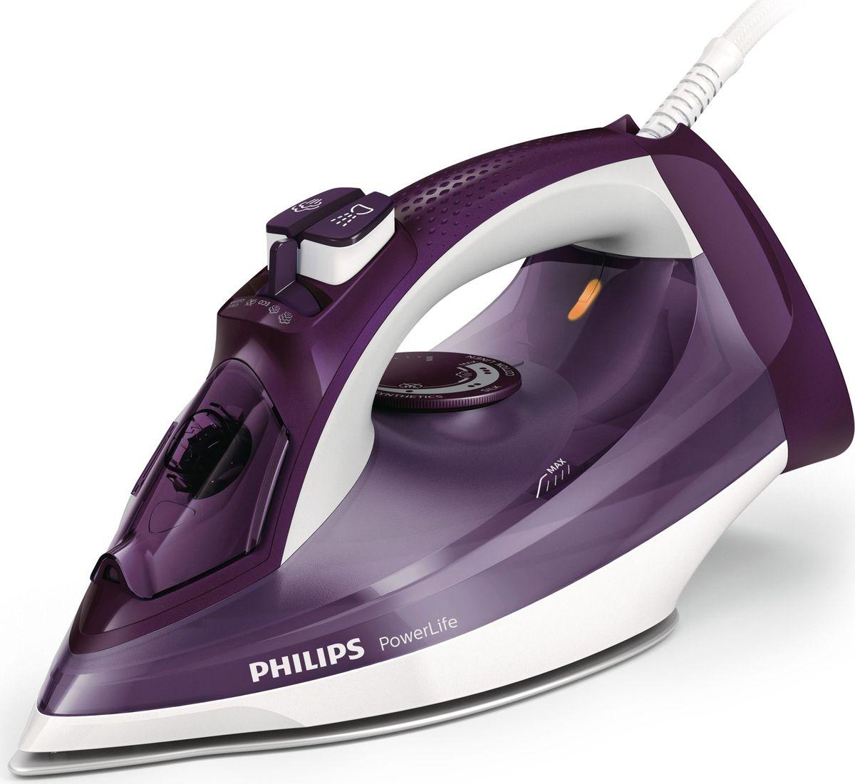 Philips GC2995/30 PowerLife, White Purple утюг philips gc 2982 30 powerlife plus