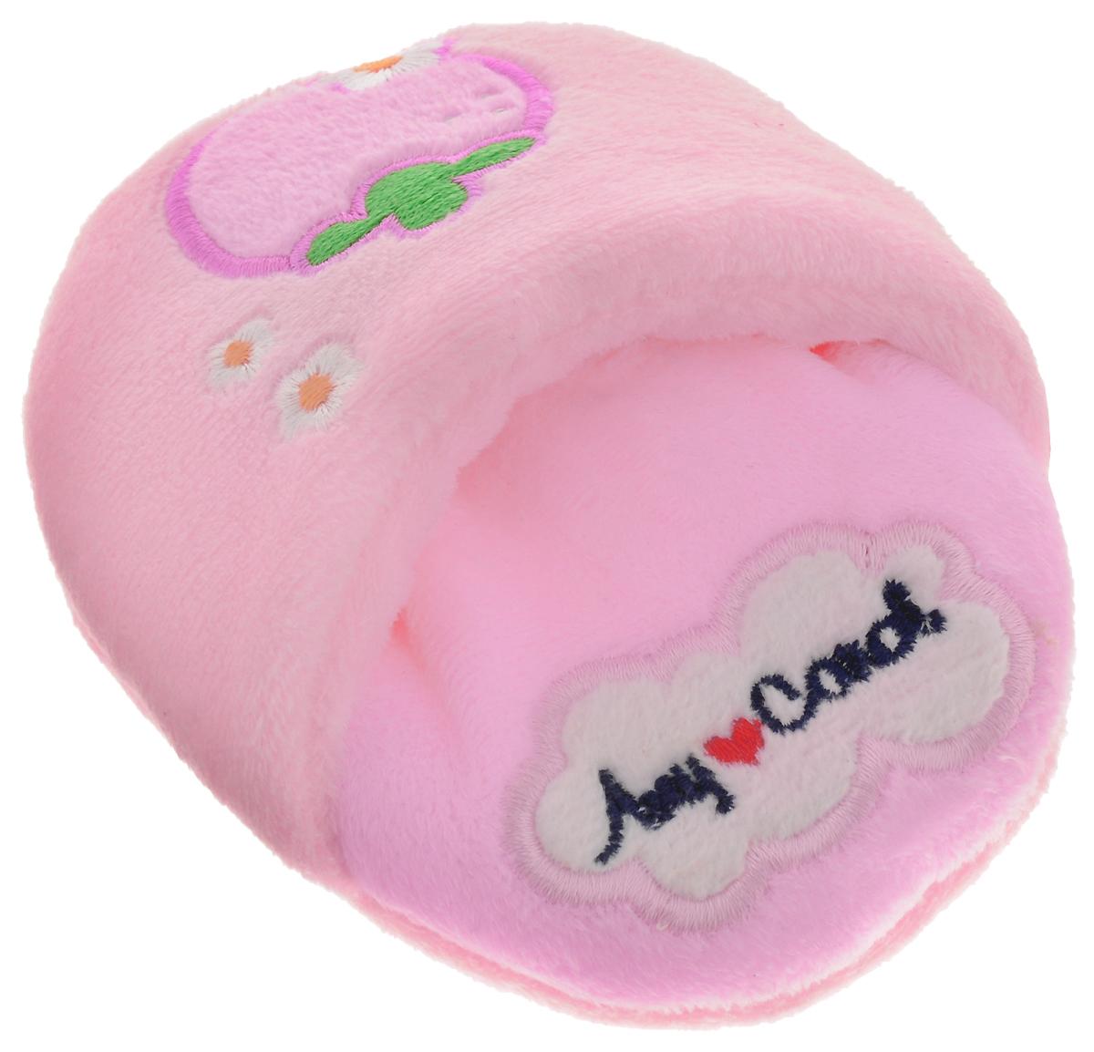 Игрушка для животных Camon Тапочки, с пищалкой, цвет: розовый, 12 х 10 х 3 смAH405/C_розовыйИгрушка для животных Camon Тапочки изготовлена из искусственного меха с наполнителем из синтепона. Внутри игрушки - пищалка. Такая игрушка не даст скучать вашему питомцу и займет его в ваше отсутствие.Размеры: 12 х 10 х 3 см.
