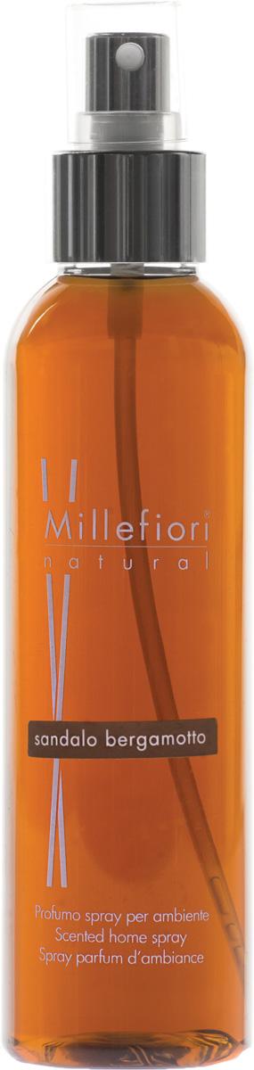 Ароматизатор Millefiori Milano Natural, сандал и бергамот, 150 мл духи спрей для дома millefiori milano natural жасмин иланг иланг jasmine ylang 150 мл