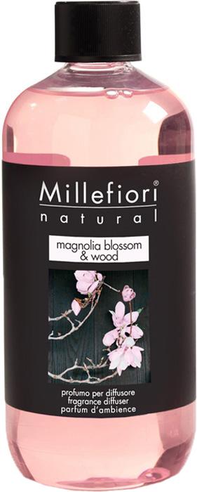 Ароматизатор Millefiori Milano Natural, цветы магнолии и дерево, сменный блок, 250 мл ароматизатор millefiori milano natural яблоко и корица сменный блок 250 мл