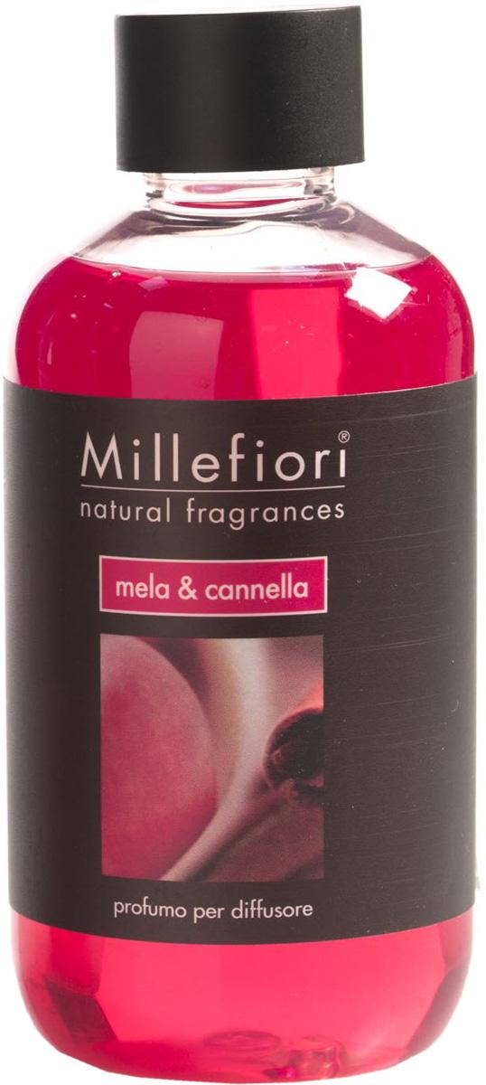 Ароматизатор Millefiori Milano Natural, яблоко и корица, сменный блок, 250 мл ароматизатор millefiori milano natural цветы магнолии и дерево 150 мл