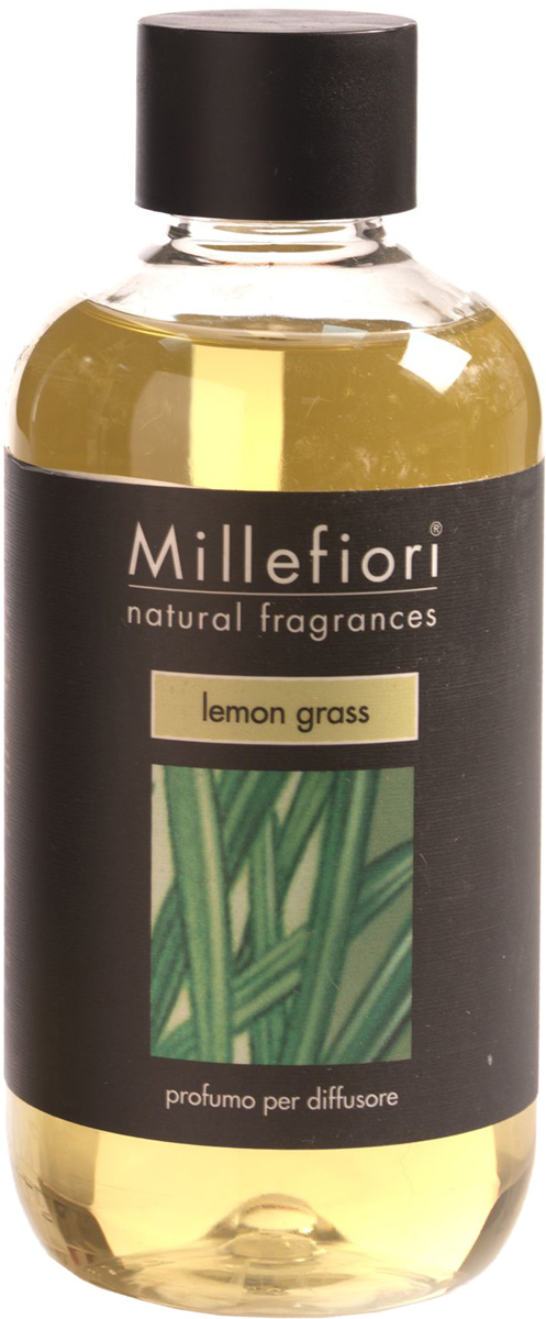 Ароматизатор Millefiori Milano Natural, лемонграсс, сменный блок, 250 мл ароматизатор millefiori milano via brera бергамот сменный блок 250 мл