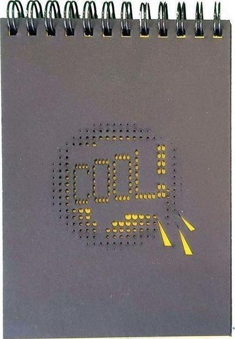 Decoriton Блокнот Cool А6 30 листов9596008Блокнот с черной бумагой Cool, бумага произведена в Европе, размер листа А6, 120гр/м2, 30 листов. Высококачественная 100% целлюлозная бумага европейского производства. Черная бумага подходит для рисования гелевыми ручками с чернилами белого цвета и с эффектом металлик, карандашами, флуорисцентной краской и... чем угодно. Плотная обложка из контрастного черного 100% целлюлозного картона защитит Ваши творения от механического воздействия и позволит использовать блокнот как планшет.