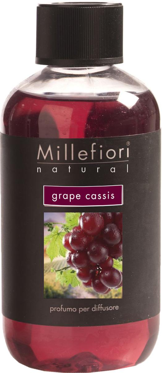 Ароматизатор Millefiori Milano Natural, виноградная гроздь, сменный блок, 250 мл ароматизатор millefiori milano via brera минеральное море 150 мл