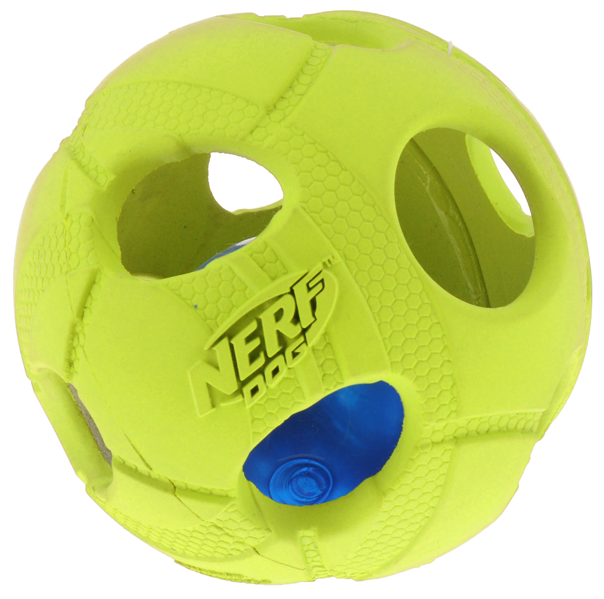 Игрушка для собак Nerf  Мяч , светящийся, цвет: салатовый, 9 см - Игрушки